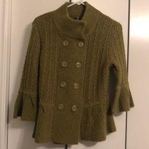 Super cute olive green sweater